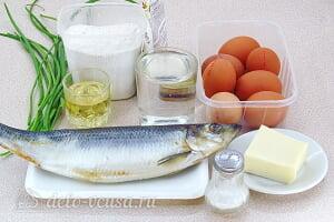 Профитроли с начинкой из сельди: Ингредиенты