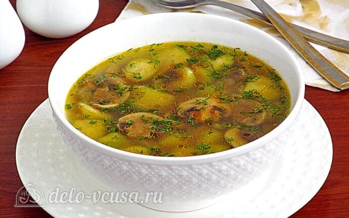 Грибной суп с брюссельской капустой