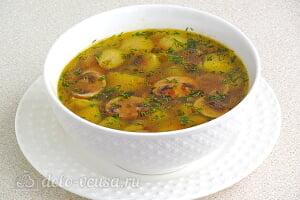 Грибной суп с брюссельской капустой готов