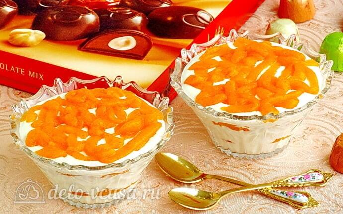 Творожный десерт с хурмой