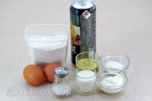 Блины на пиве с молоком и сметаной: Ингредиенты