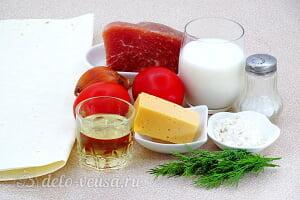 Лазанья из лаваша с фаршем: Ингредиенты