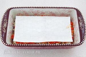Лазанья из лаваша с фаршем: Накрываем последним листом лаваша