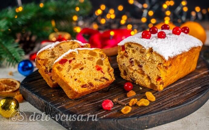 Рождественский кекс с цукатами и коньяком