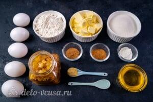 Рождественский кекс с цукатами и коньяком: Ингредиенты
