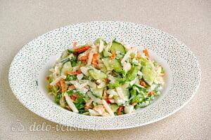 Салат из черной редьки «Зимняя свежесть» готов
