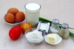 Яичная запеканка с помидорами и сыром: Ингредиенты