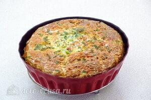 Яичная запеканка с помидорами и сыром: Отправляем запеканку в духовку