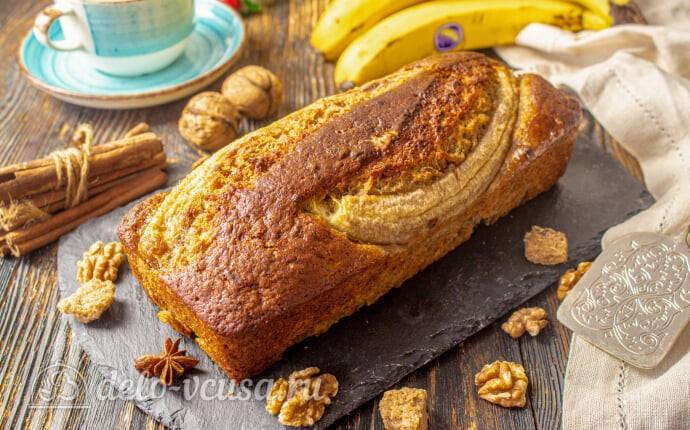 Банановый хлеб с грецкими орехами