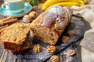 Банановый хлеб с грецкими орехами готов