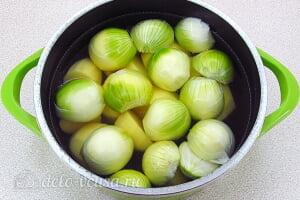 Луковое пюре по-французски6 Варим овощи до мягкости