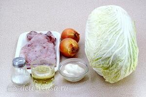 Салат с кальмарами и пекинской капустой: Ингредиенты