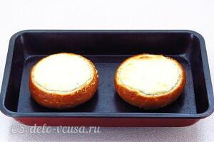 Жульен из шампиньонов в булочке: Запекаем булочки до румяной корочки