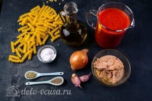 Паста с тунцом в томатном соусе: Ингредиенты