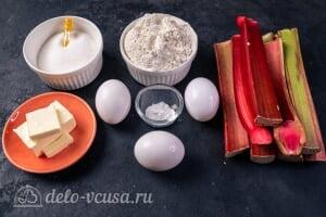 Пирог-перевертыш с ревенем: Ингредиенты